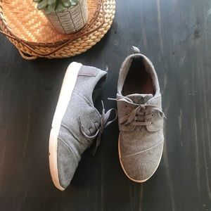 Toms grey wool Carrillo sneakers size 9